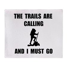 Trails Calling Go Throw Blanket