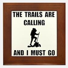 Trails Calling Go Framed Tile