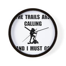Trails Calling Go Wall Clock