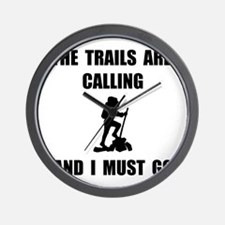 Trails Calling Go Wall Clock