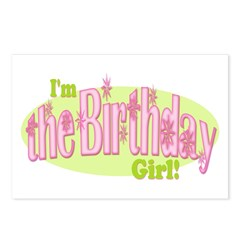 Birthday Girl Postcards (Package of 8)