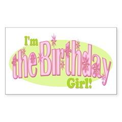 Birthday Girl Rectangle Decal