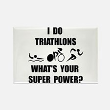 Triathlon Super Power: Rectangle Magnet (10 pack)