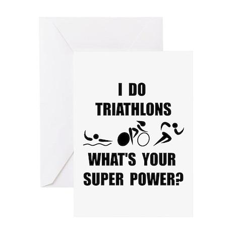 Triathlon Super Power: Greeting Card