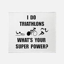 Triathlon Super Power: Throw Blanket