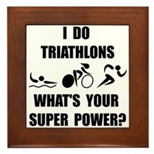 Triathlon Super Power: Framed Tile