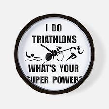 Triathlon Super Power: Wall Clock