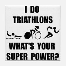 Triathlon Super Power: Tile Coaster
