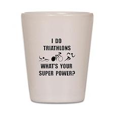 Triathlon Super Power: Shot Glass