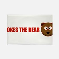 Pokes the bear Rectangle Magnet
