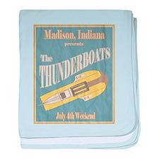 Vintage Thunderboat baby blanket