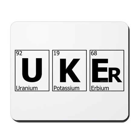 UKEr as Elements on the Periodic Table Mousepad