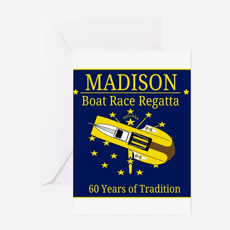 Madison Boat Race Regatta Greeting Card