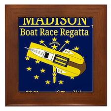 Madison Boat Race Regatta Framed Tile