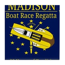 Madison Boat Race Regatta Tile Coaster