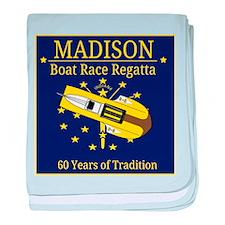 Madison Boat Race Regatta baby blanket