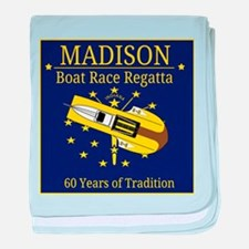 Madison Boat Race Regatta baby blanket