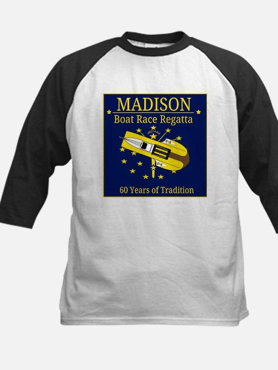 Madison Boat Race Regatta Kids Baseball Jersey