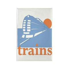 Trains Rectangle Magnet
