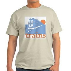 Trains Ash Grey T-Shirt