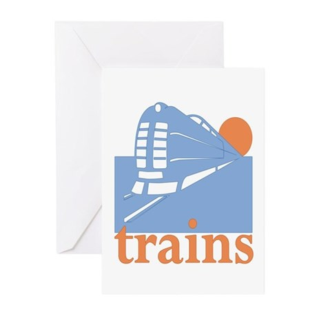 Trains Greeting Cards (Pk of 10)