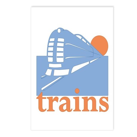 Trains Postcards (Package of 8)