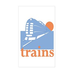 Trains Rectangle Decal