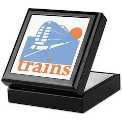 Trains Keepsake Box