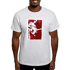 BASS GUITAR PLAYER Ash Grey T-Shirt