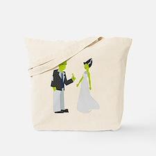 Frankenstein & Bride Tote Bag