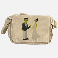 Frankenstein & Bride Messenger Bag