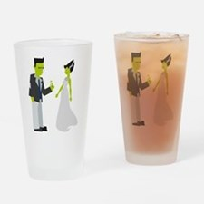Frankenstein & Bride Drinking Glass