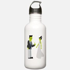 Frankenstein & Bride Water Bottle