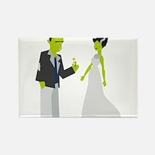 Frankenstein & Bride Rectangle Magnet