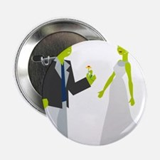 "Frankenstein & Bride 2.25"" Button"