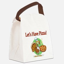 Lets Have Pizza Canvas Lunch Bag
