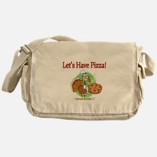 Lets Have Pizza Messenger Bag