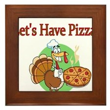 Lets Have Pizza Framed Tile
