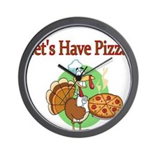 Lets Have Pizza Wall Clock
