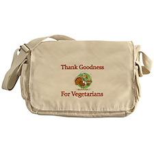 Thank Goodness For Vegetarians Messenger Bag