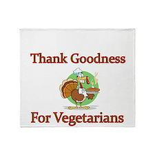 Thank Goodness For Vegetarians Throw Blanket
