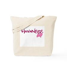 """Havanese """"Pink"""" Tote Bag"""
