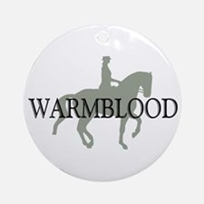 Piaffe Warmblood Ornament (Round)