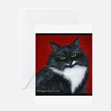 "Tuxedo Cat ""Twinkle Toes"" Greeting Card"