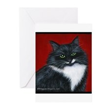 """Tuxedo Cat """"Twinkle Toes"""" Greeting Cards (Pk of 20"""