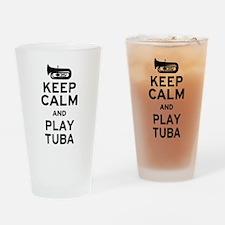 Keep Calm and Play Tuba Drinking Glass