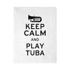 Keep Calm and Play Tuba Twin Duvet