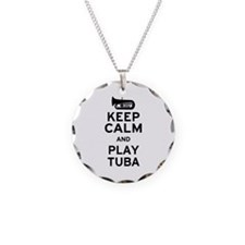 Keep Calm and Play Tuba Necklace