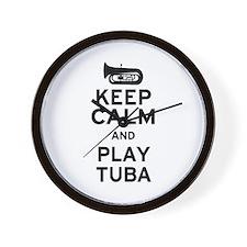 Keep Calm and Play Tuba Wall Clock