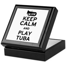 Keep Calm and Play Tuba Keepsake Box